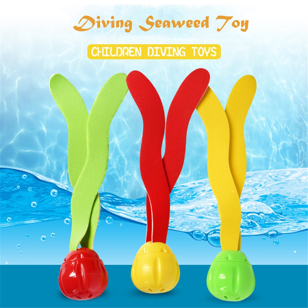 3 pcs 다이빙 수중 수영 다채로운 풀 싱크 훈련 다이빙 해초 장난감 s dece 25th