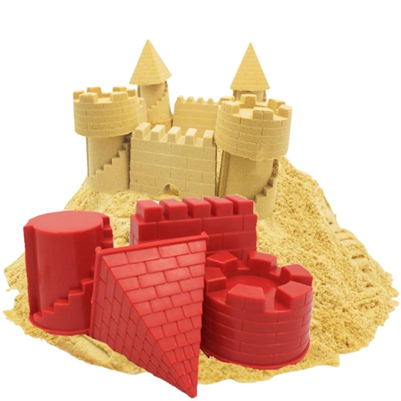[해외]Creative Children`s Animal Pyramid Castle Sand Mold DIY Summer Beach Tool Set Classic Water Playing Toys For Kids/Creative Children`s Animal Pyram