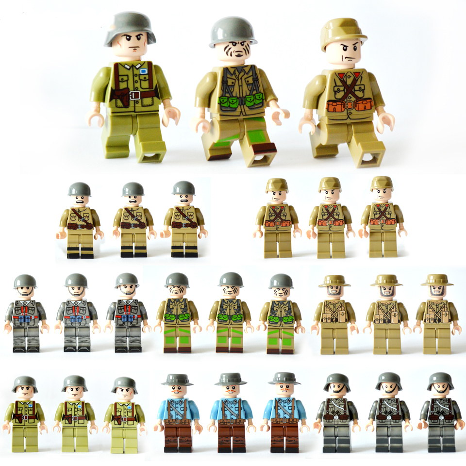 LegoINGlys Minifigure 24pcs / lot 빌딩 블록 수치 벽돌 DIY 장난감 경찰 군인 직업 어린이를미니 사람들 선물/LegoINGlys Minifigure 24pcs/lot Building Blocks Figures bricks DIY To